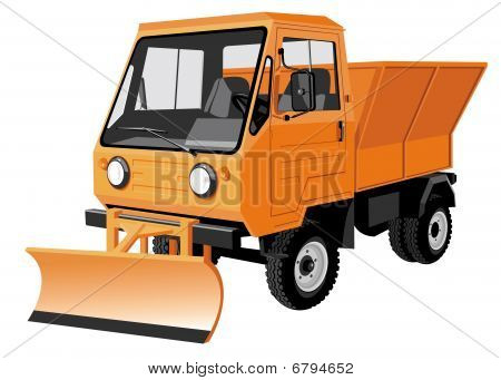 Street cleaning lorry