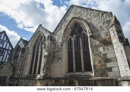 Old Medieval English Church Windows