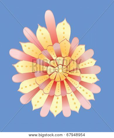 abstract yellow cockleshell vector