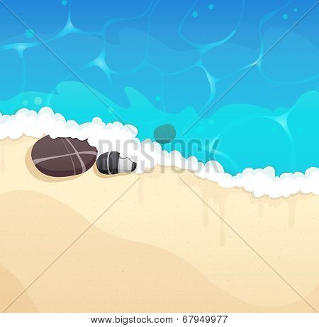 Sandy Coast With Pebble