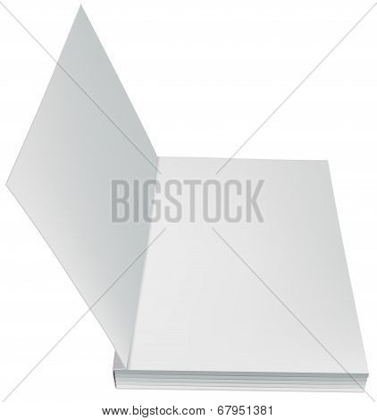 Open book front page paperback isolated