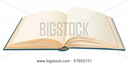Realistic Opened Book With Empty Pages Vector