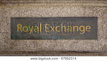 LONDON, UK - JUNE 30, 2014: Royal exchange building. Bank of England square and underground station