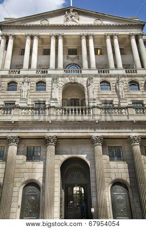 LONDON, UK - JUNE 30, 2014: Bank of England. Square and underground station
