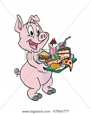 Pig Being A Pig