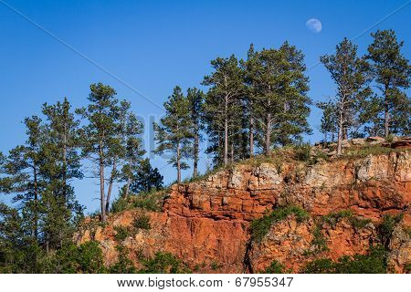 Red Rock Moon Rising