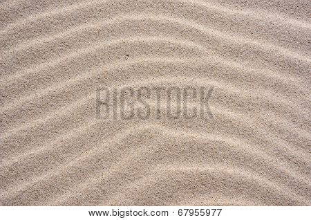 Sand texture. Sand of dunes on Baltic beach in Ustka, Poland. Natural textured backdrop.