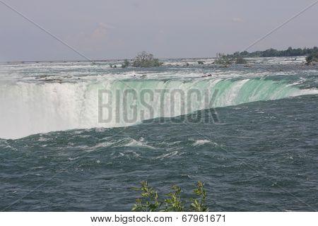 Niagara Falls,Canadian, at brink