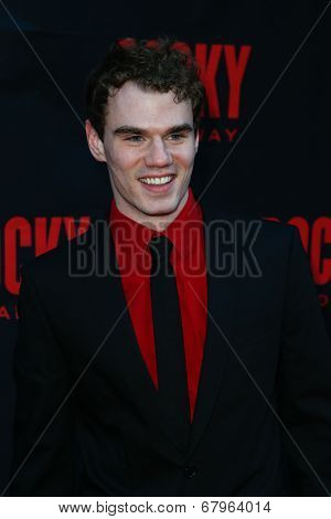 NEW YORK-MAR 13: Actor Jay Armstrong Johnson attends the 'Rocky' Broadway opening night at the Winter Garden Theatre on March 13, 2014 in New York City.