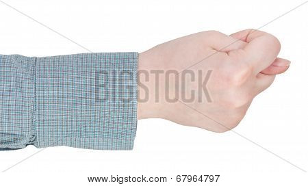 Side View Of Finger Fig Sign - Hand Gesture