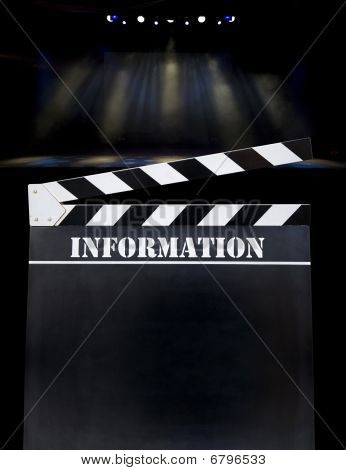 Movieclapper board Theatre Background