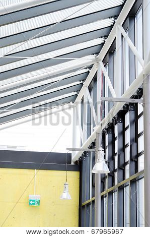 Steel And Glass Construction Of The Skylight