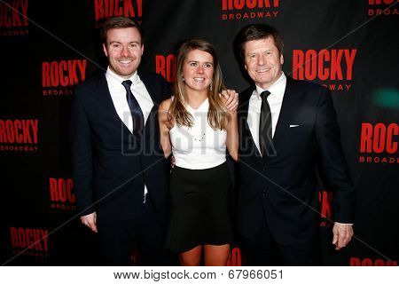 NEW YORK-MAR 13: Producers Will Taylor, Sophie Taylor and Bill Taylor attend the 'Rocky' Broadway opening night after party at Roseland Ballroom on March 13, 2014 in New York City.
