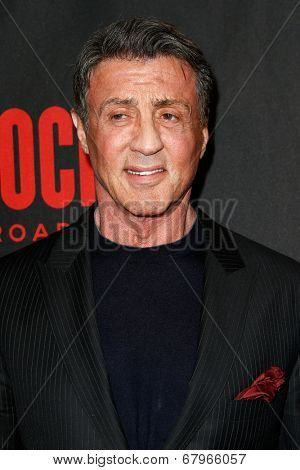NEW YORK-MAR 13: Actor Sylvester Stallone attends the 'Rocky' Broadway opening night after party at Roseland Ballroom on March 13, 2014 in New York City.