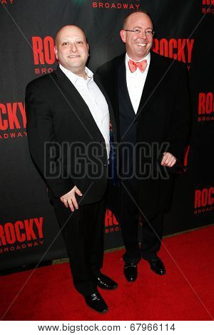 NEW YORK-MAR 13: Isaac Robert Hurwitz and Philip Rosenberg (R) attend the 'Rocky' Broadway opening night after party at Roseland Ballroom on March 13, 2014 in New York City.