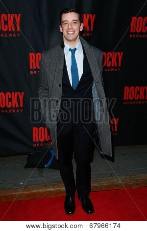NEW YORK-MAR 13: Actor Michael Urie attends the 'Rocky' Broadway opening night at the Winter Garden Theatre on March 13, 2014 in New York City.