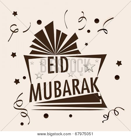 Stylish open gift box for the occasion of Muslim community festival Eid Mubarak celebrations.