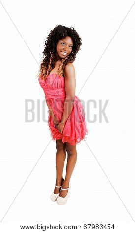 Girl In Pink Dress.