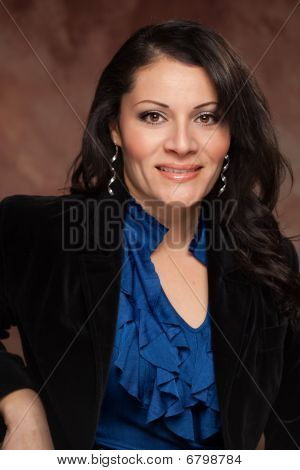 Attractive Hispanic Woman Studio Portrait