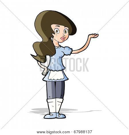 cartoon waitress