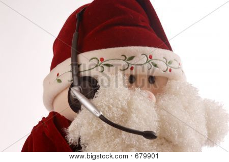 Santa Face With Headset Offside