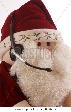 Santa Gesicht mit Headset