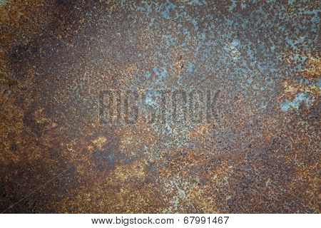 Rusty Metal Barrel Texture Detail.
