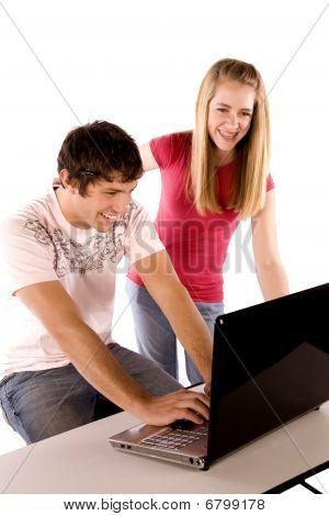Laughing At Computer