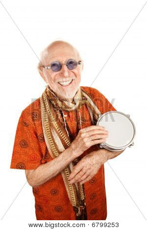New Age Man With Bongo