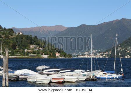 Italy, Cernobbio (CO): the harbour