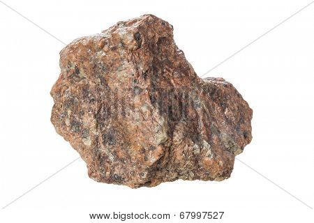stone Granite,isolated on white