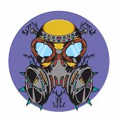 foto of bio-hazard  - The creative design of Crazy gas mask bio hazard monster - JPG