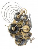 picture of time machine  - Stylized metal collage of clockwork - JPG