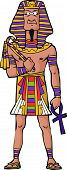 foto of pharaoh  - Ancient Egyptian Pharaoh on white background vector illustration - JPG
