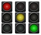 picture of traffic signal  - Traffic lights isolated on white background - JPG