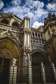 stock photo of parador  - Toledo Cathedral facade - JPG