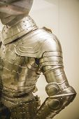 stock photo of armor suit  - Security Medieval iron armor - JPG