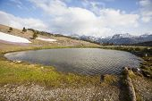 image of velika  - View on a smal lake in Velika Planina plateau in Slovenia - JPG