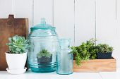 foto of green-blue  - Vintage home decor - JPG