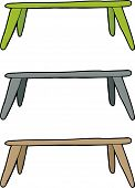 picture of barricade  - Hand drawn tables or barricades over white background - JPG