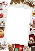 stock photo of cake-ball  - Collection of Christmas photos of confections with copy space - JPG