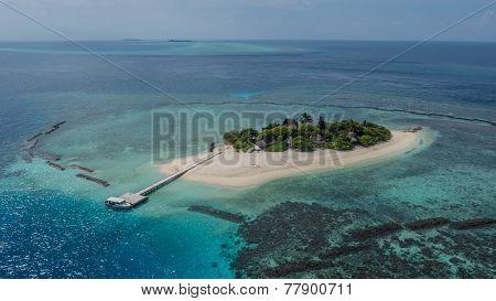 Island in colour ocean