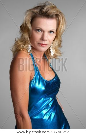 Sexy Blue Dress Woman