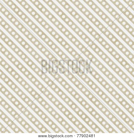 Light Beige And White Small Polka Dots And Stripes Pattern Repeat Background