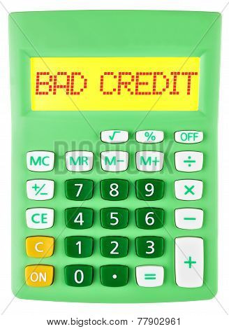 Calculator With Bad Credit On Display