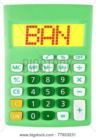 Calculator With Ban On Display