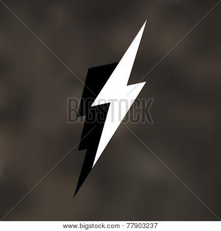 Lightning Bolt Icon Illustration