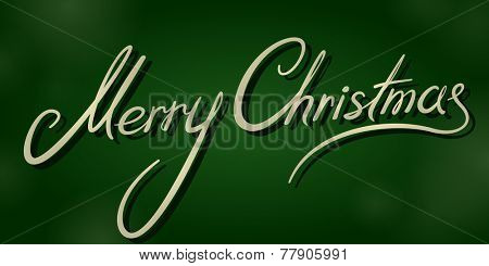 vintage merry christmas dark green banner