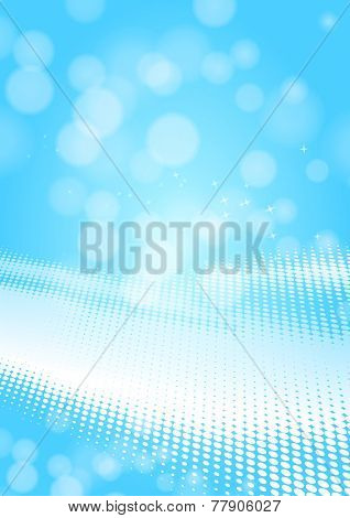 light blue dots and lights background
