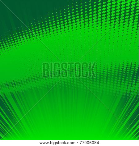 green shine halftone background